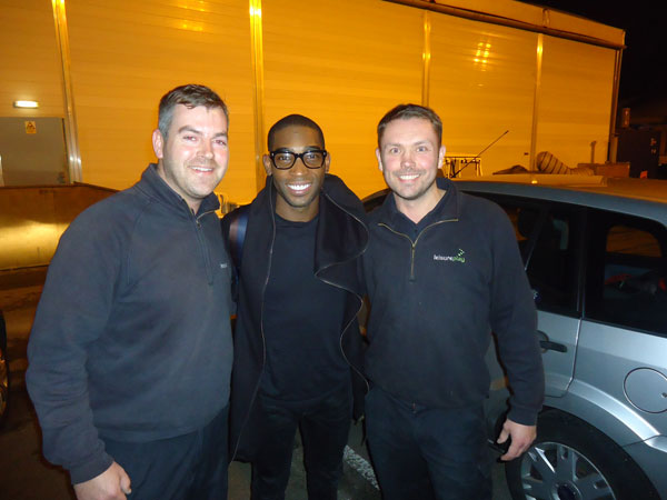 Tinie Tempah with Leisureplay team